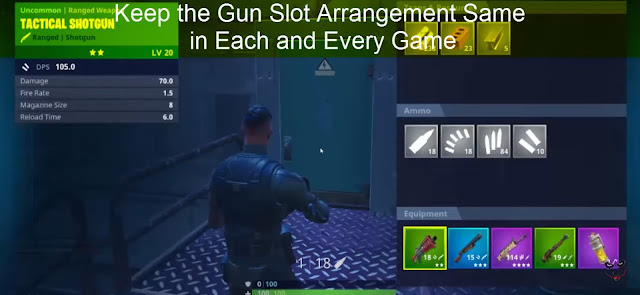 #3. Keep the Gun Slot Arrangement Same in Each and Every Game