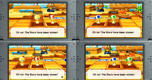 Mario Party Star Rush generic Toads red blue yellow green