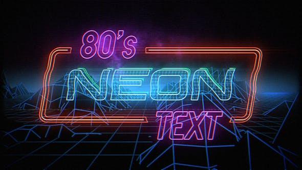 Videohive Retro Neon Titles 23198662