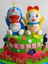 kue karakter Doraemon