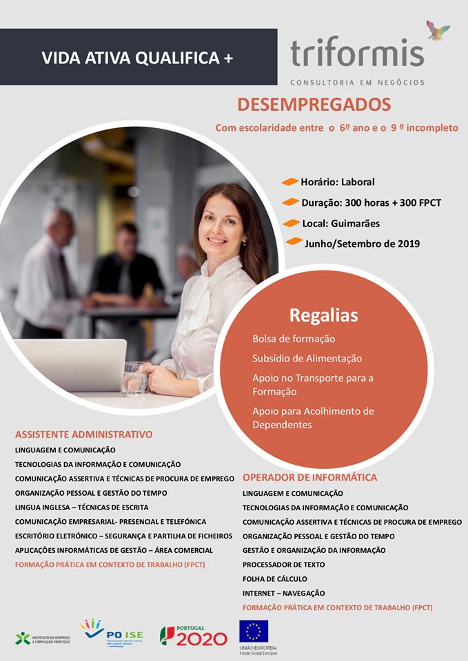 Formação financiada em Guimarães, Fafe e Vizela (2019)
