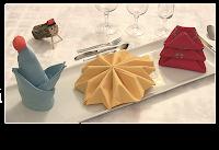 Ideas para doblar servilletas para Navidad
