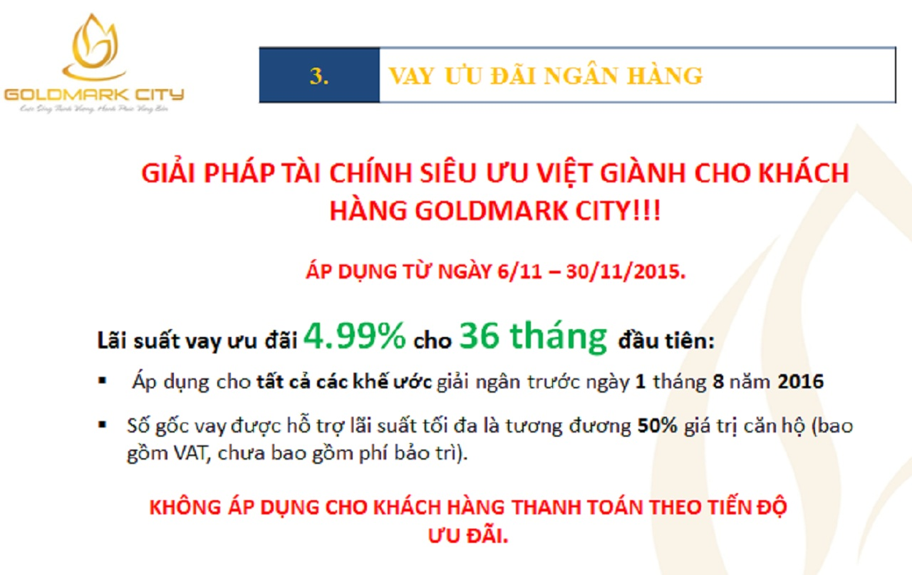 Chính Sách Bán Hàng Dự Án Goldmark City