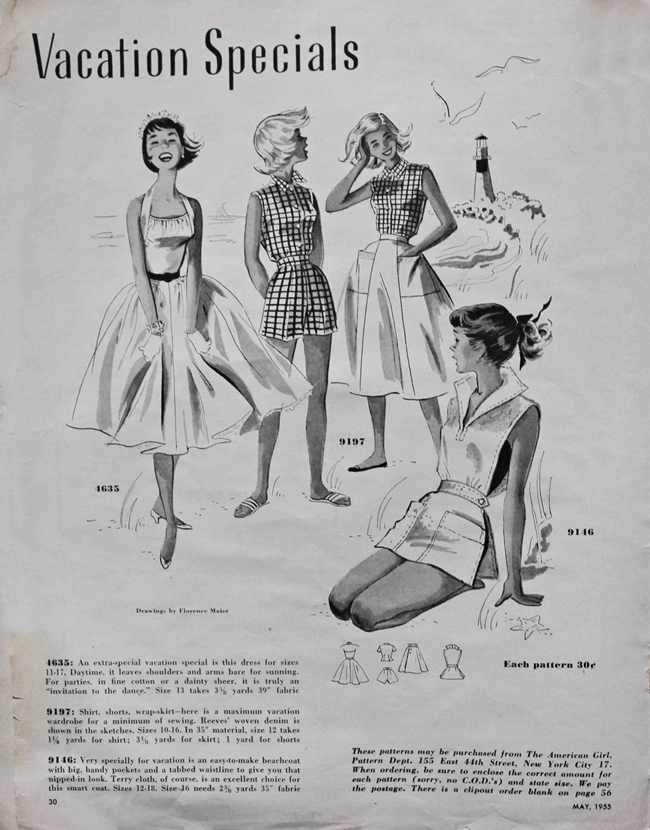1950s teen summer dress fashion