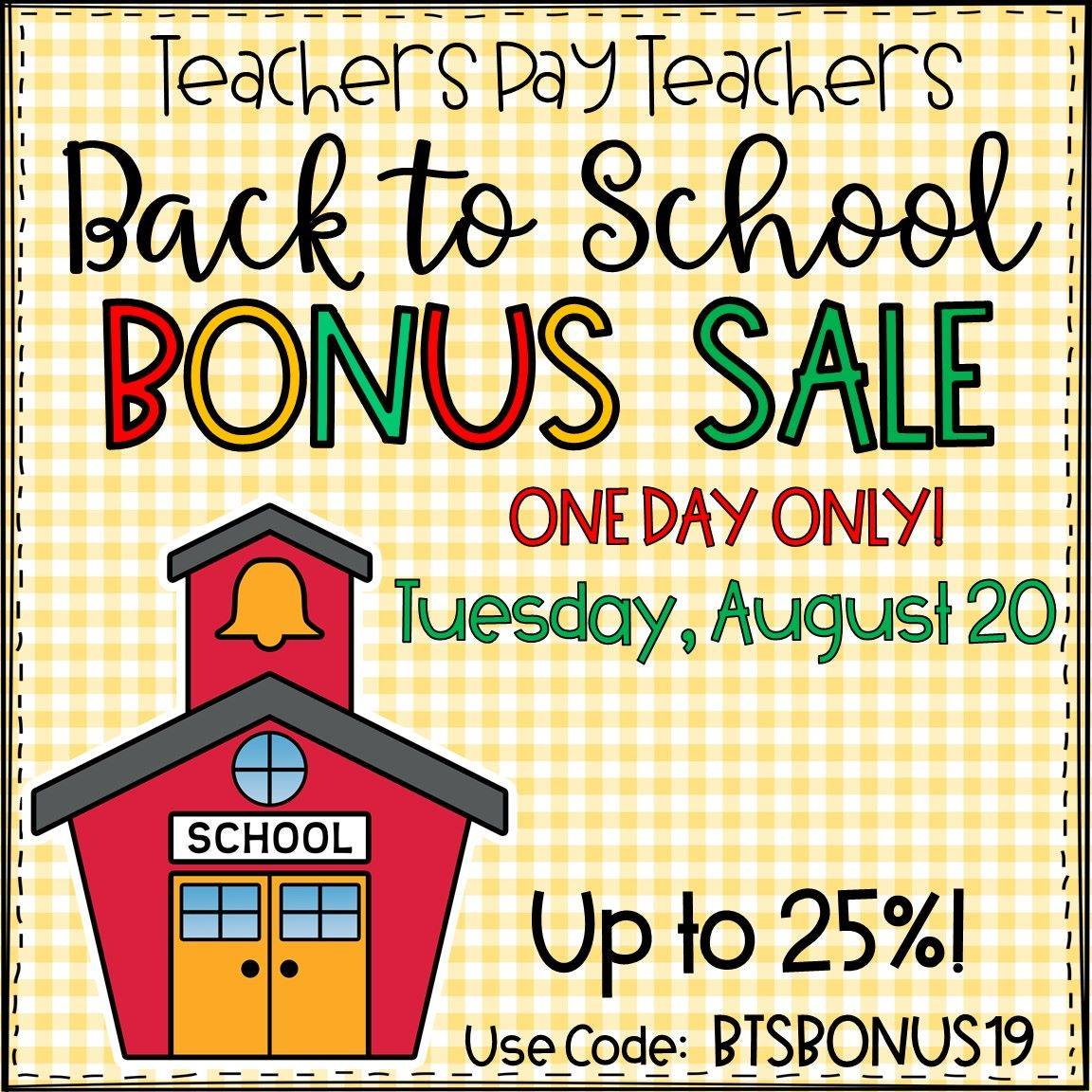 Save big during the TPT Bonus Sale on 8/20/19 with code BTSBONUS19! | The ESL Nexus