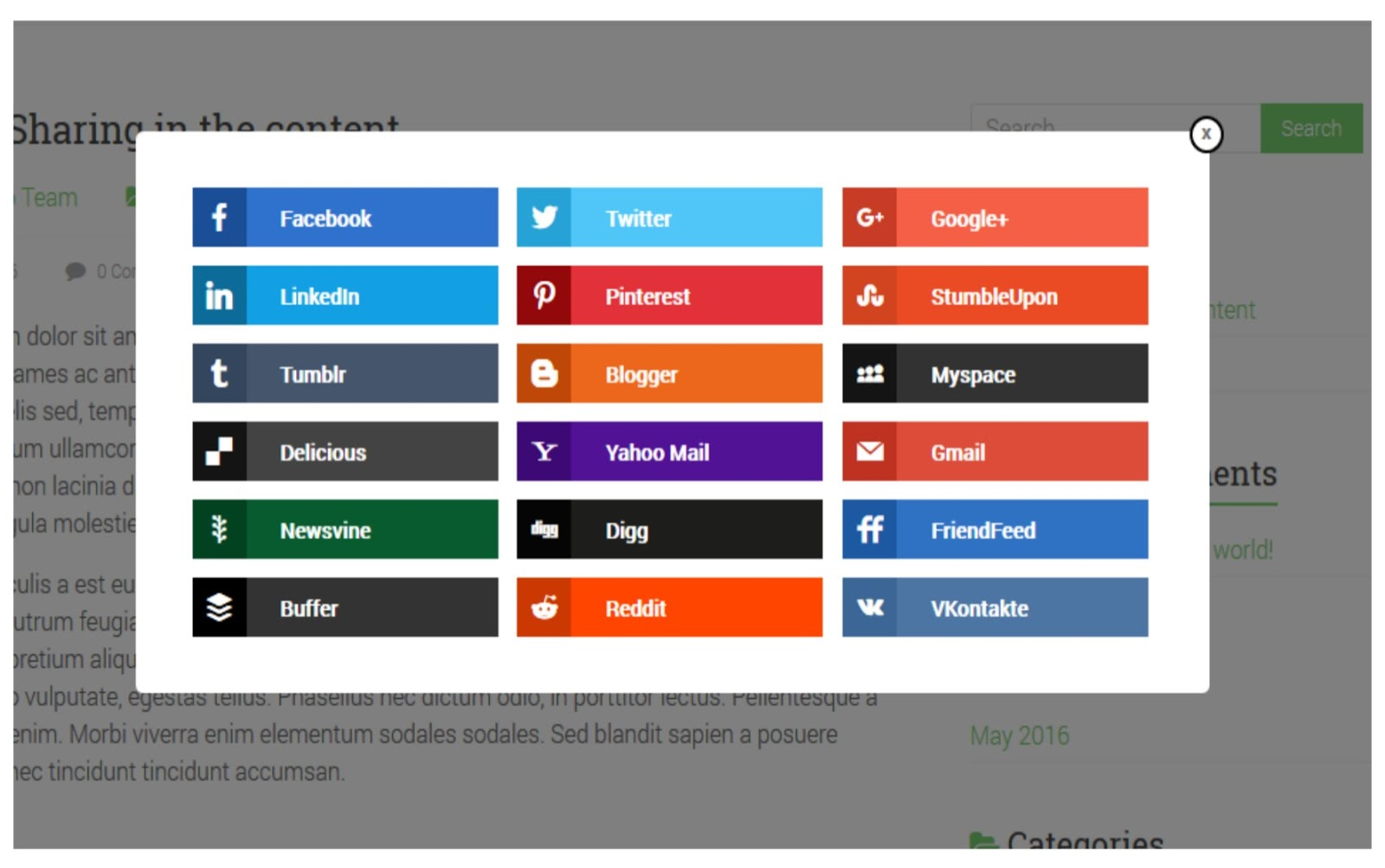 Easy Social Sharing WordPress Plugin