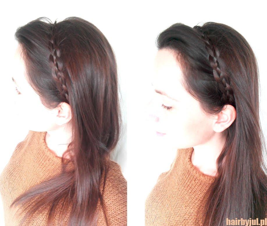 Opaska Z Warkocza Prosta Fryzura Na Poniedziałek Hair By