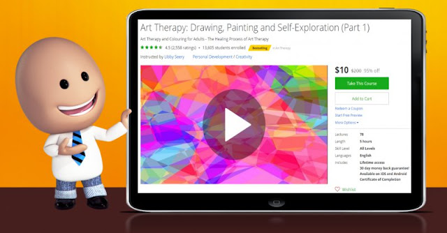 [95% Off] Art Therapy: Drawing, Painting and Self-Exploration (Part 1)| Worth 200$
