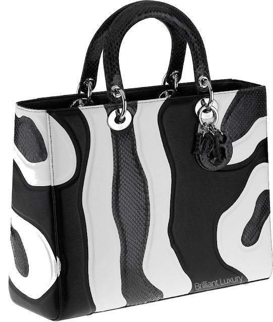 ♦Dior black and white zebra striped snakeskin Lady Dior bag #dior #bags #ladydior #brilliantluxury