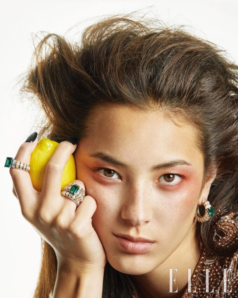 Louis Vuitton Jewelry New Muse Tiana Tolstoi for Latest Elle Korea