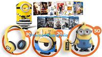Logo Vinci 250 buoni spesa Mediaworld o se ''A Natale facciamo i Cattivi'' vinci 100 premi Minions