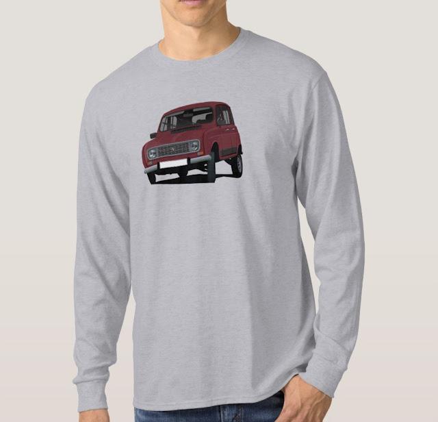 Dark red Renault 4 car shirt