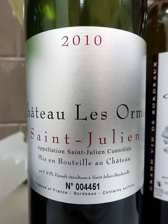 Château Les Ormes 2010 (92 pts)