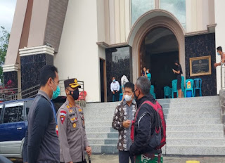 Kapolres Tator dan Dandim 1414/Tator Lakukan Patroli Pengawasan Pengamanan Jumat Agung
