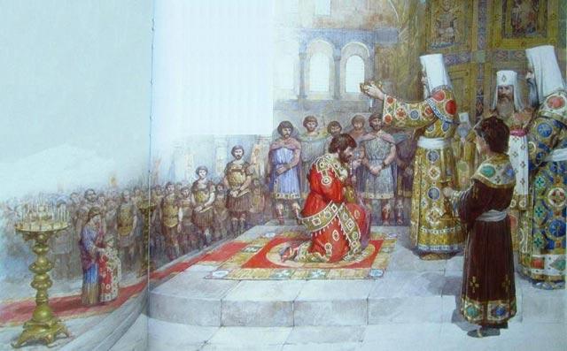 Michael VIII coronation byzantium.filminspector.com