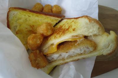 Long John Silver's, breakfast fish sandwich