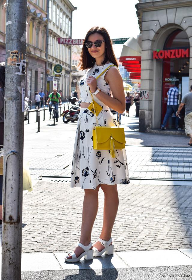 Hot to wear cropped top and a midi skirt, street style summer fashion inspiration; Ljetni stajling za inspiraciju - ulična moda, Lucija Lisica, moda i dizajn