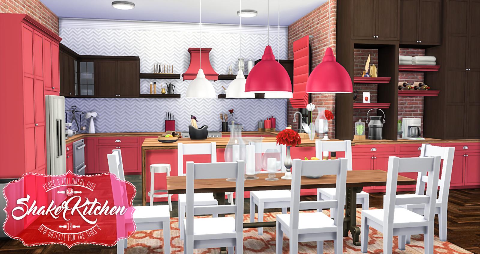 Simsational Designs Shaker Kitchen