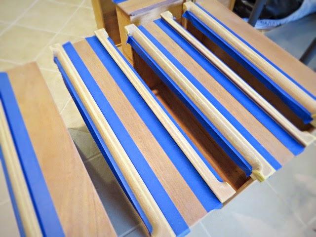 mid-century dresser prep paint painters tape