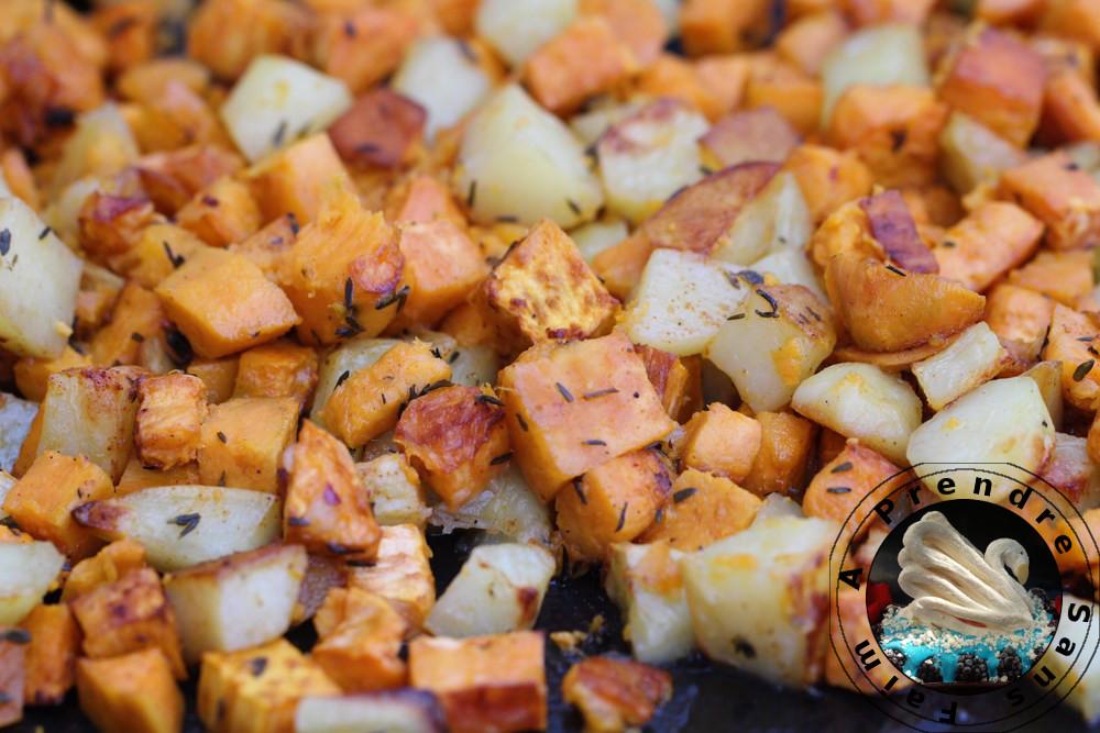Patates rôties aux épices