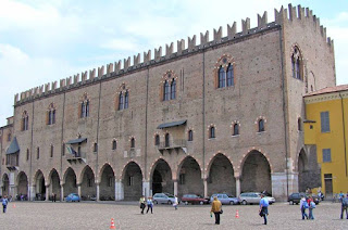 The facade of the Palazzo Ducale in Mantua, which was the palace of the Gonzagas between 1328 and 1707
