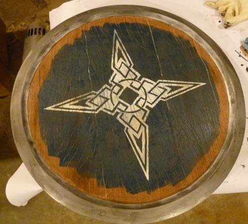 Weathering added to Dawnstar Skyrim Shield