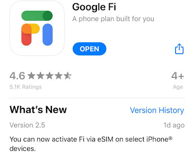 How I got google fi esim on my iPhone easy after last Update - pf-geo.com