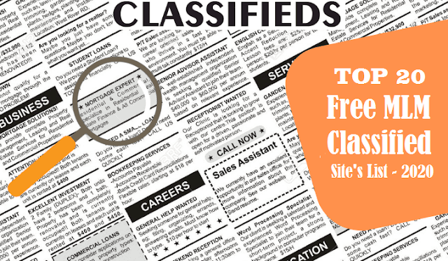 Top 20 - MLM Classified Site [2020]