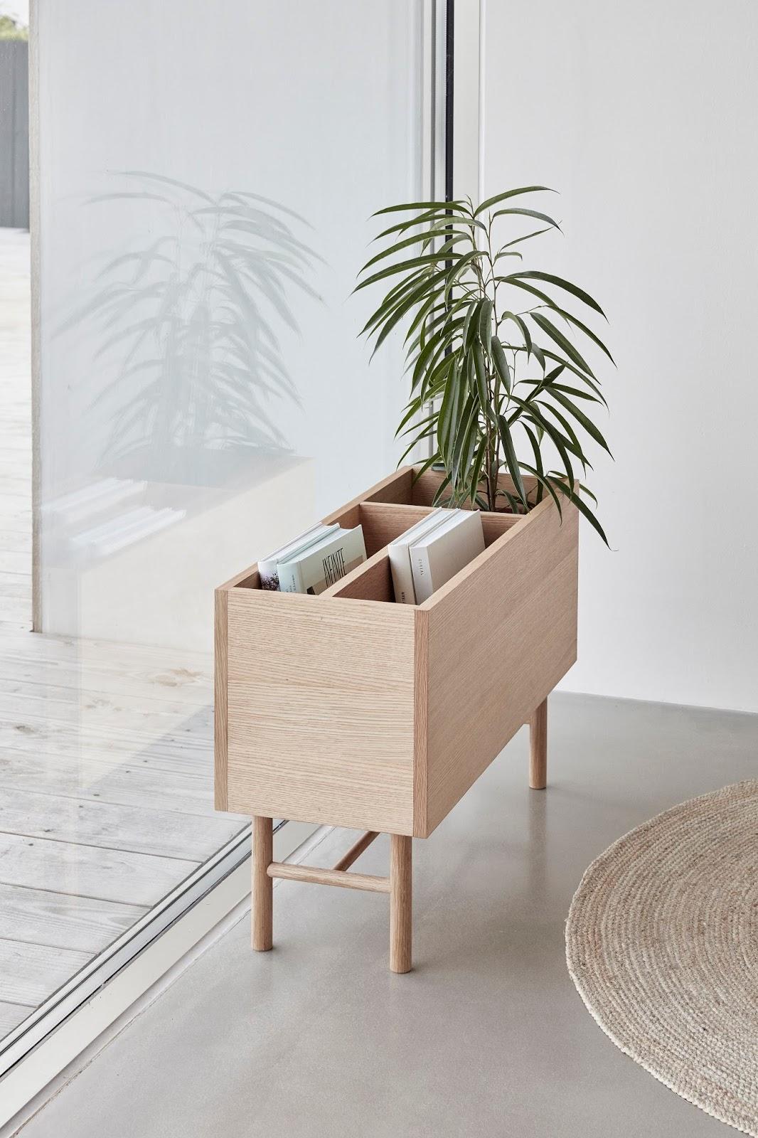Drewniana donica na rośliny