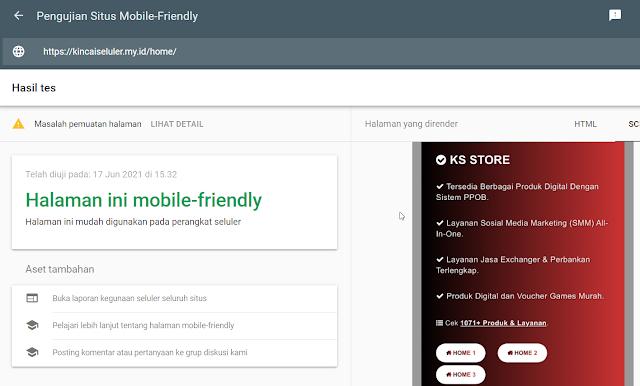 Valid Mobile Friendly KM Panel Test
