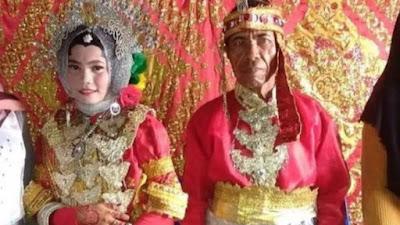 Terpaut 28 Tahun, Kisah Pernikahan Duda dan Gadis Cantik di Pangkep Viral di Sosmed