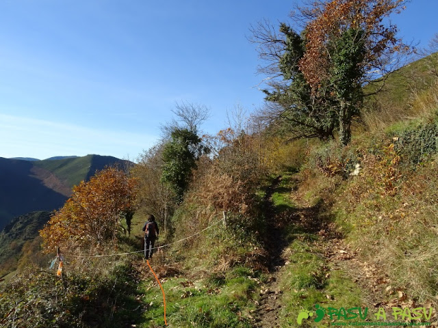 Dolmen de Merillés: Desvío en La Faxa hacia Tuña