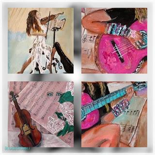Λεπτομέρειες από πίνακες ζωγραφικής Αγαθής Γαλανοπούλου