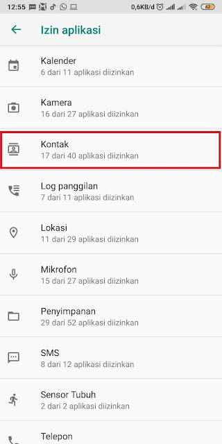 Kontak Whatsapp yang Tidak Muncul di Xiaomi 3