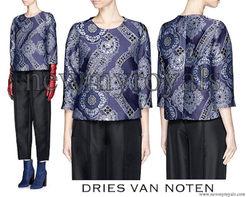 Queen Mathilde wore DRIES VAN NOTEN Dress - AW15