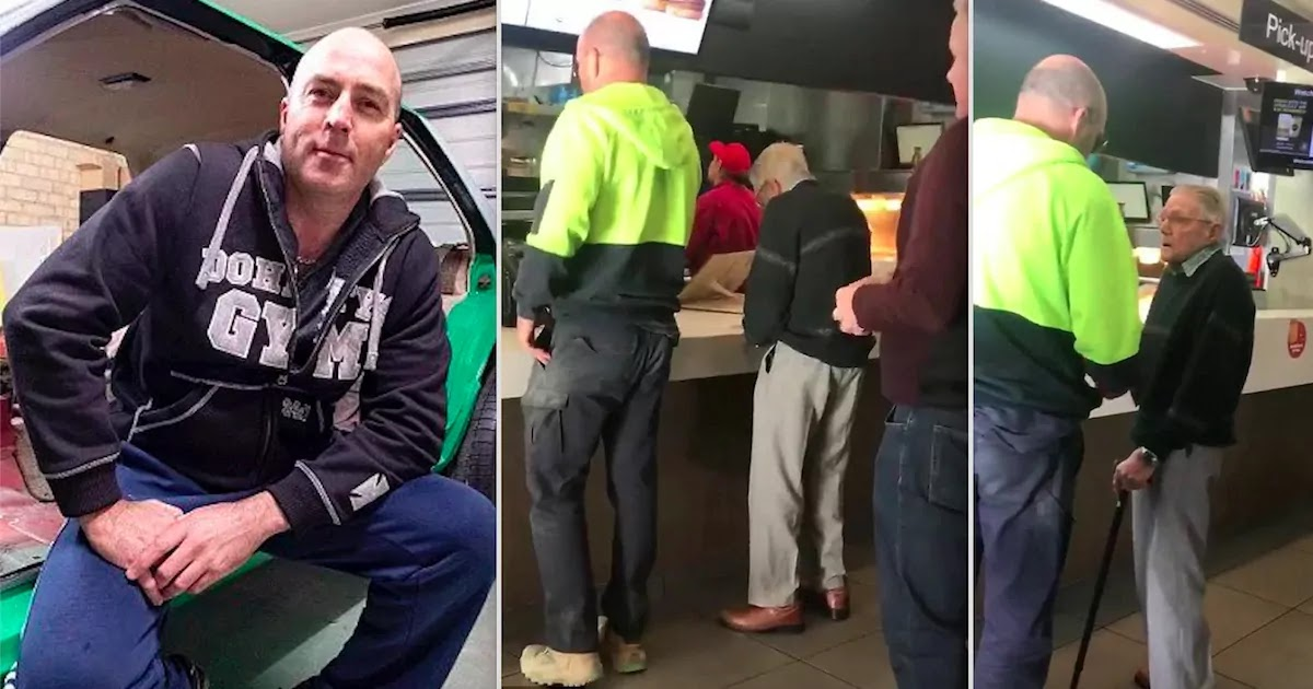 Video Shows Stranger Paying For An Elderly Man's Meal In An Australian McDonalds After Seeing Him Struggle
