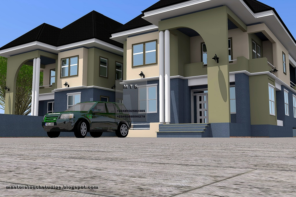 4 bedroom twin duplex residential homes and public designs for Modern duplex house designs in nigeria