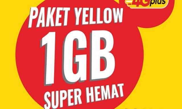 Paket Yellow Kuota 1GB 2000 Rupiah Indosat