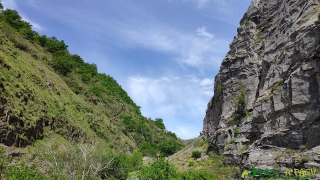 Parte superior y salida del Desfiladero de los Calderones