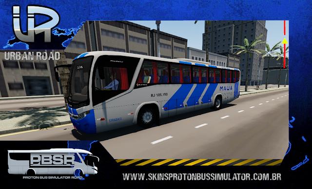 Skin Proton Bus Simulator: Marcopolo Audace MB OF-1721 4X2 Viação Mauá