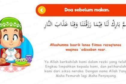 Lafadz Doa Sebelum dan Sesudah Makan atau Minum Arab, Latin Disertai Gambar Kaligrafi Arab