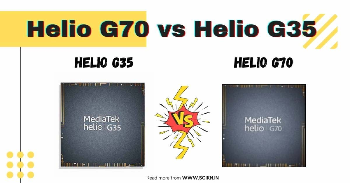 which is better mediatek Helio G70 vs Helio G35