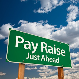 ask for a pay raise / salary increase