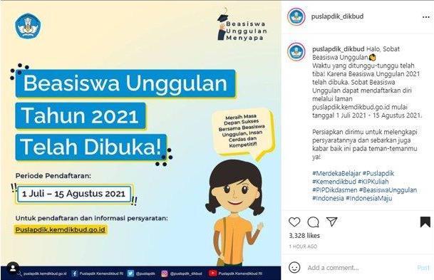 Beasiswa Unggulan di puslapdik.kemdikbud.go.id Telah Dibuka, Cek Syaratnya