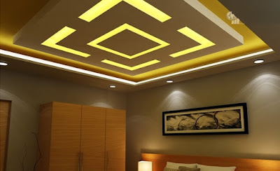 POP false ceiling designs  - LED ceiling lights