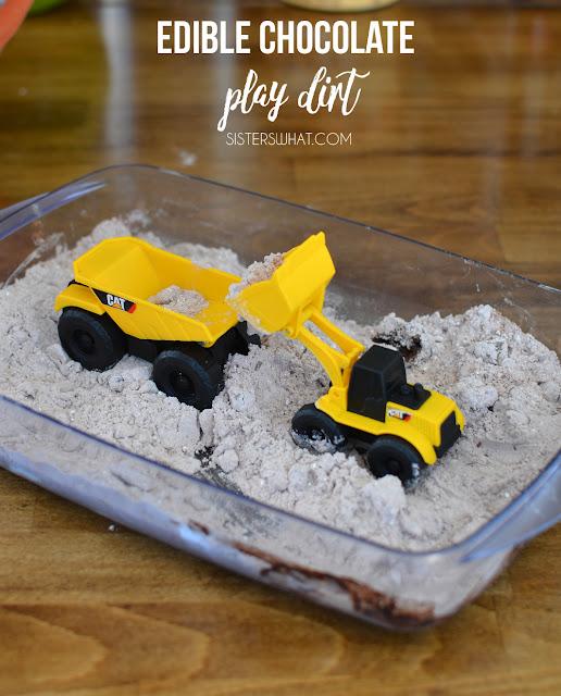 edible dirt for trucks or dinosaurs
