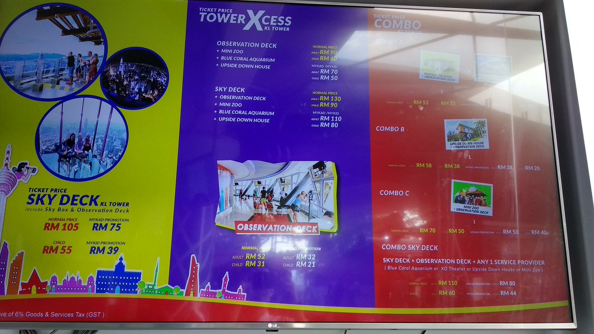harga sky deck kl tower