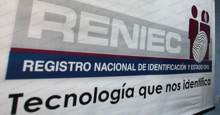 RENIEC: Oficinas de Lima y Callao continúan cerradas al público por la cuarentena