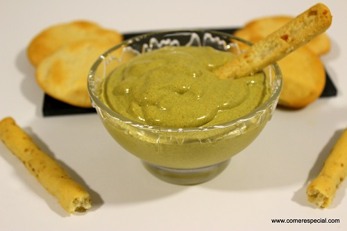 Dip de mejillones y queso sin lactosa