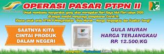 Meringankan Harga Gula, PTPN II Gelar Operasi Pasar Gula Murah